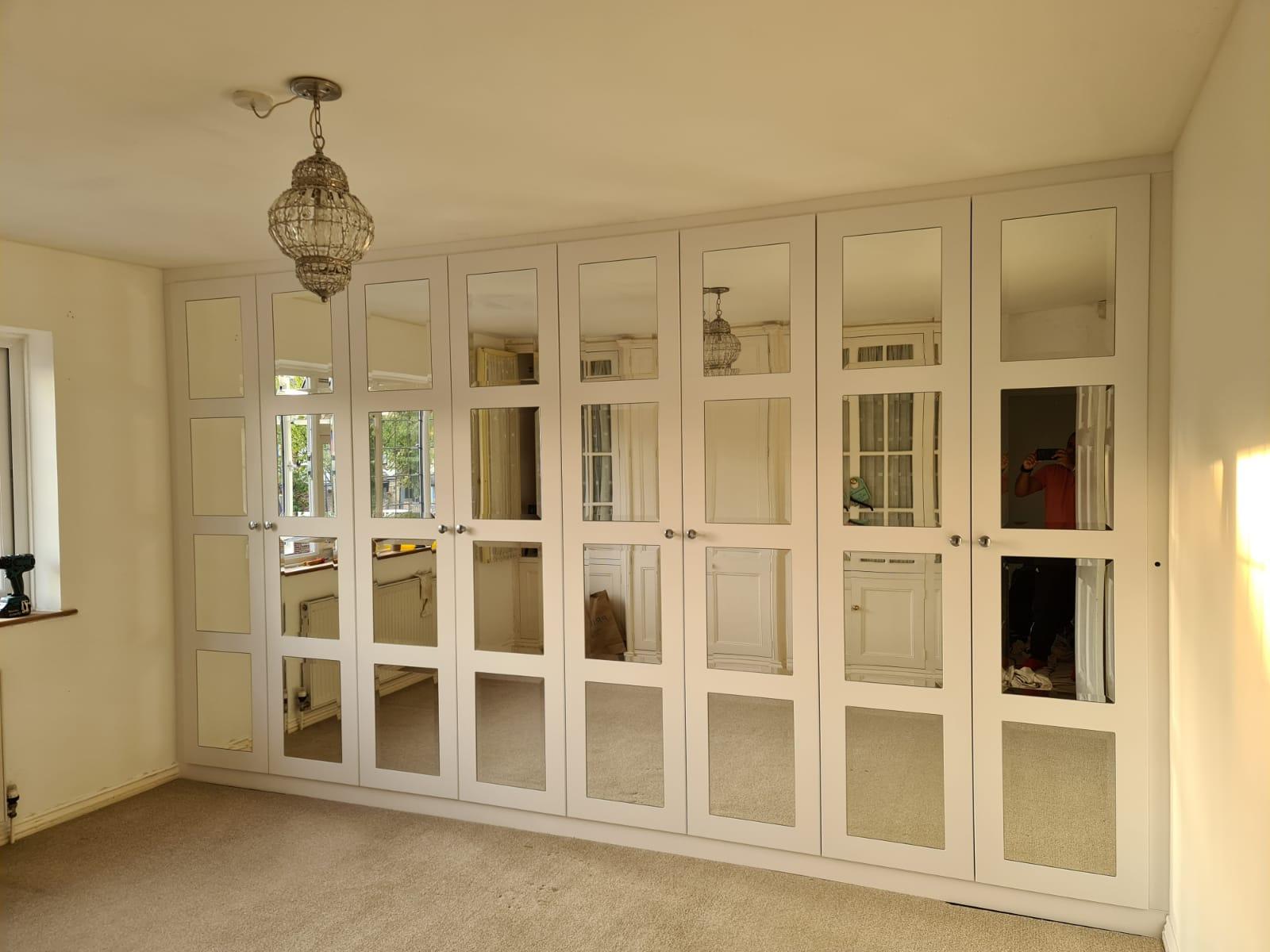 Double Door Hinged Wardrobes with Premium Glass Handles