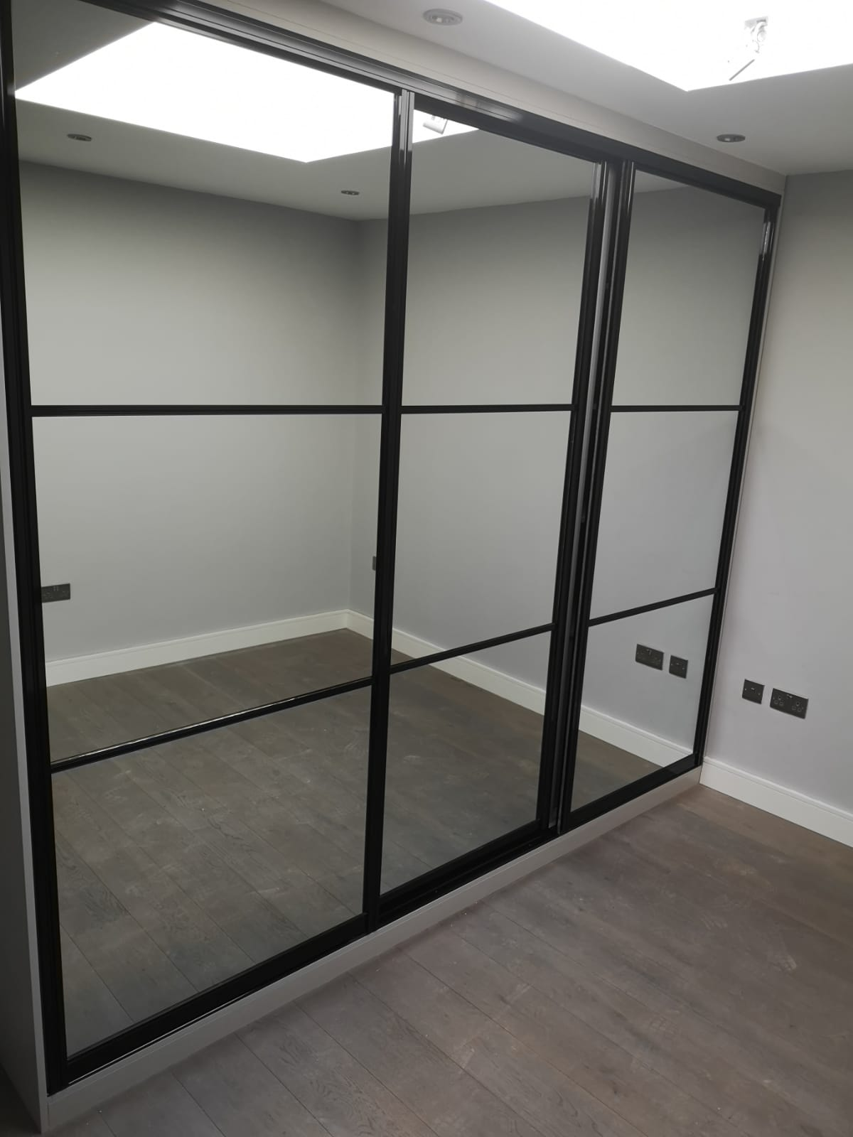 3 Panelled Sliding Wardrobe inframe & Premium Vanity Mirrors